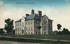 Ward School Alma MI Mich Michigan Postcard