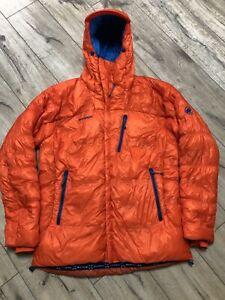 MAMMUT EXTREME Eigerjoch Ajungilak Down Orange Mountain Jacket Size XL Great
