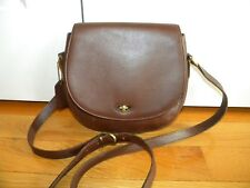 VINTAGE COACH Brown Leather Crossbody Handbag Italy Madison Carlyle #4401