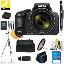 Nikon COOLPIX P900 16MP Digital Camera with 83x Optical Zoom BLACK + 16GB Bundle