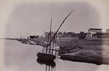 Egypte Louxor Photo Albumine Tirage vers 1890 en petit format