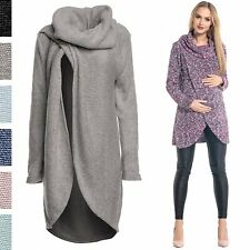 Happy Mama. Women's Maternity Nursing Wrap Knitted Layered Jumper Pullover. 359p