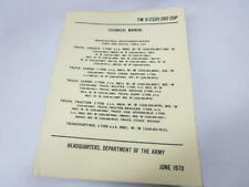 Vintage AM General Military 5 Ton 6x6 Truck M809 Technical Manual