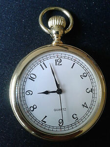 """POCKET WATCH NO.18 GOLD COLOURED FOB WATCH """" DICKENS """" COLLECTABLE"""
