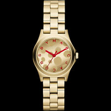 NWT Marc Jacobs Womens Watch MINI HENRY GLOSSY POP Yellow Gold RED MBM3270 $250