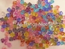 ACRYLIC 6mm Bicone Beads Jewellery Findings JOBLOT 500