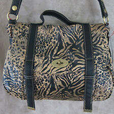 RED by MARC ECKO Broken Promises Attache Camel Satchel Handbag Purse NWT