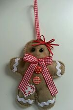 Ginger and Cinnamon scented  Ginger bread Man.Handmade Shabby chic..Wood buttons