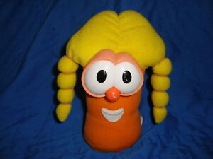 Veggie Tales Laura Carrot Plush 1999 Fisher Price 7""