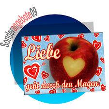 Kühlschrankmagnet  Sprüche Spruch Schilder Magnet Liebe geht durch den Magen!