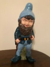 Ceramic  vintage goth garden gnome elves fantasy 12 inches approx