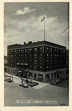 Vintage 1940s Postcard; The Rumely Hotel, La Porte IN Cool Cars Unposted