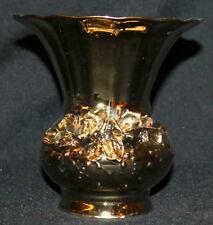 Vintage Gilded Porcelain Floral Vase
