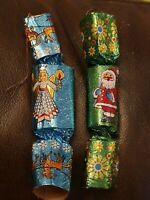 Vintage Christmas Hanging Tree Decorations 1960s Crackers X 2