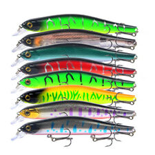8PCS Fishing Lure 17.6g 12.5cm Crankbait Wobblers Minnow Bass Saltwater
