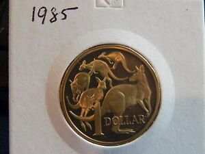 1985 AUSTRALIAN PROOF $1 COIN - TAKEN FROM PROOF SET