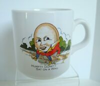 VTG Rare Porcelain Humpty Dumpty Children's Collectible Cup Mug Made England EUC