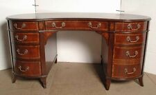 English Regency Mahogany Kidney Desk
