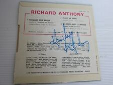 RICHARD ANTHONY ..45 TOURS  .  ARANJUEZ MON AMOUR . DEDICACE