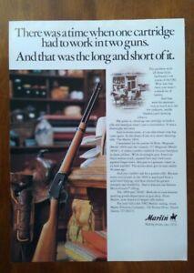 1982 Marlin 1894 Lever Action Hunting Rifle Photo Vintage Print Ad Gun Poster