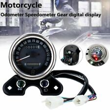 Motorcycle Odometer Speedometer LCD Digital Gauge For Honda CG125 Cafe Racer