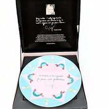 Whatever It Takes Churchill Claudia Schiffer Peace & Protection Plate # C408