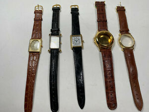 Vintage Dummy Watches with Leather Straps 5 pcs.