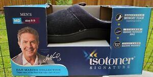 Men's Isotoner Signature Memory Foam Slippers Black Sz Med 8-9 Dan Marino
