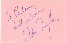 Don Taylor signed autograph book page American actor/director Planet of the Apes