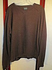 George XL Sweater 100% Cashmere Men's BROWN