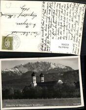 432956,Benediktbeuern Klosterkirche Kirche m. Benediktenwand Bergkulisse