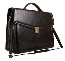 Faux Leather Business Work Shoulder Holdall Satchel Luggage Executive Flight Bag