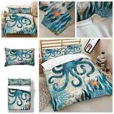 3D Sea Animal Tortoise Printing  2/3pcs Queen Size Comforter Cover & Pillowcase