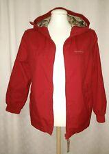 Quechua Garçons Veste à capuche manteau EUR taille 10 ans entièrement doublé rouge