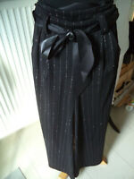 Rockhose Hose Gr 38/40 schwarz silber  für Tango Argentino NEU  New Collection