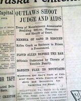 FLOYD ALLEN Gang HIILSVILLE Virginia Courthouse Shootout Murders 1912 Newspapers