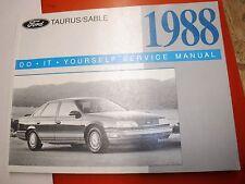 1988 FORD TAURUS MERCURY SABLE ORIGINAL FACTORY DO IT YOURSELF MANUAL SERVICE