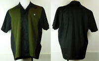 NEW NWT House of Blues Martini Lounge Bowling Button-Up Shirt Black/Green M