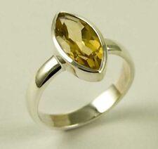 Unbranded Citrine Sterling Silver Fine Rings