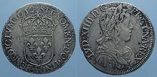 FRANCIA 1/2 ECU 1652 H LUIGI XIV BB