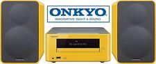 ONKYO CS-265 MINI HI-FI SYSTEM - BLUETOOTH USB CD NFC - YELLOW