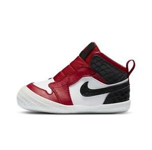 Jordan 1 Crib Bootie, Satin Snake, Limited, sz 3C, Flat shipping