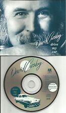 DAVID CROSBY Stills & Nash Drive my Car PROMO Radio DJ CD Single 1989 USA and