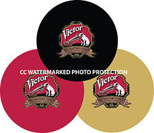 """New listing Rca Victor 7"""" or 12"""" Turntable / Platter Mat Choose: Black Red Gold New"""