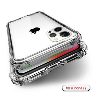 For iPhone 12 Pro Max Mini 11 XS XR 6 7 8 Plus Shockproof Clear Soft Case Cover