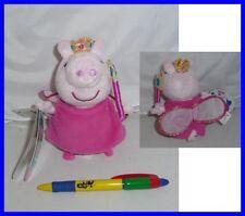 Peluche PEPPA PIG Vestito PRINCIPESSA 15cm CON SONORO Grugnito Originale NUOVO