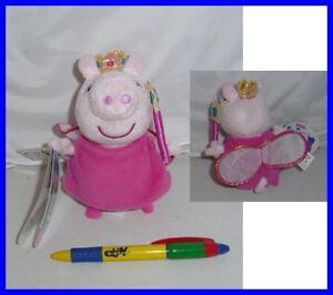 Peluche Peppa Cochon Robe Princesse 15cm Avec Son Grunt Original Neuf