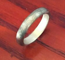 Mokume Ring with Sterling silver liner in Size 7