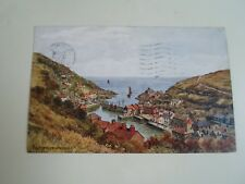 A R QUINTON Postcard 3746 POLPERRO FROM THE HILL Franked+Stamped 1952  §A2705