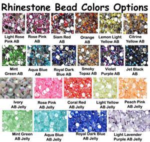 1000 Crystal Flat Back Acrylic AB / Jelly Resin Rhinestones Gems 2mm 3mm 4mm 5mm